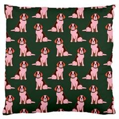 Dog Animal Pattern Large Flano Cushion Case (two Sides)