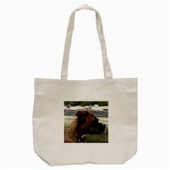 Boxer Brindle Tote Bag (Cream)