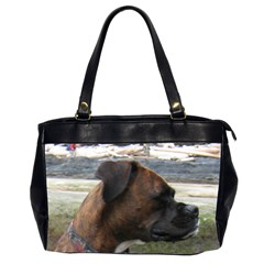 Boxer Brindle Office Handbags (2 Sides)