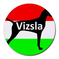 Vizsla Silo Name On Hungary Flag Round Mousepads