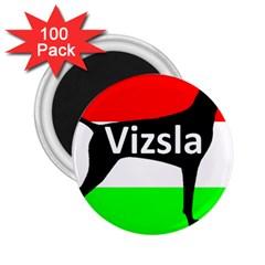 Vizsla Silo Name On Hungary Flag 2.25  Magnets (100 pack)