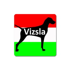 Vizsla Silo Name On Hungary Flag Square Magnet