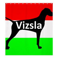 Vizsla Silo Name On Hungary Flag Shower Curtain 66  x 72  (Large)