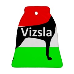 Vizsla Silo Name On Hungary Flag Ornament (Bell)