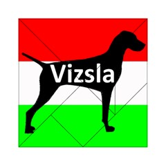 Vizsla Silo Name On Hungary Flag Acrylic Tangram Puzzle (6  x 6 )