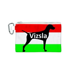 Vizsla Silo Name On Hungary Flag Canvas Cosmetic Bag (S)