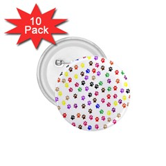 Paw Prints Background 1 75  Buttons (10 Pack)