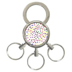Paw Prints Background 3 Ring Key Chains