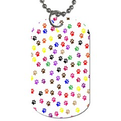 Paw Prints Background Dog Tag (two Sides)