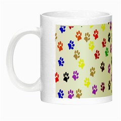 Paw Prints Background Night Luminous Mugs