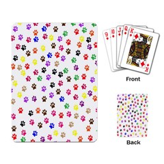 Paw Prints Background Playing Card