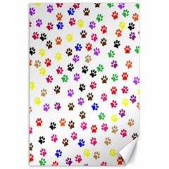 Paw Prints Background Canvas 20  X 30