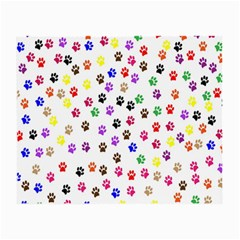 Paw Prints Background Small Glasses Cloth (2 Side)