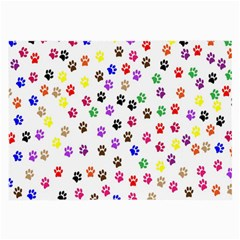 Paw Prints Background Large Glasses Cloth