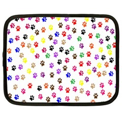 Paw Prints Background Netbook Case (large)