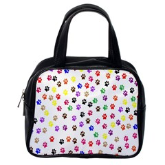 Paw Prints Background Classic Handbags (one Side)