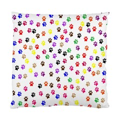 Paw Prints Background Standard Cushion Case (one Side)