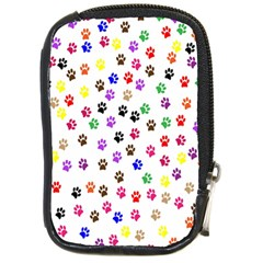 Paw Prints Background Compact Camera Cases