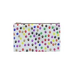 Paw Prints Background Cosmetic Bag (small)