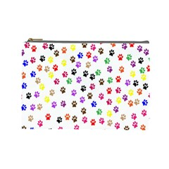 Paw Prints Background Cosmetic Bag (large)