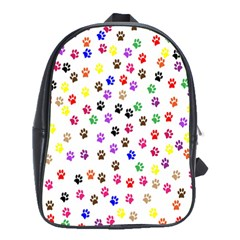 Paw Prints Background School Bags(large)