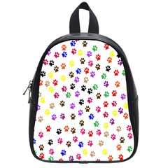 Paw Prints Background School Bags (small)