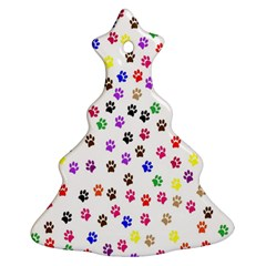 Paw Prints Background Ornament (christmas Tree)