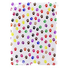 Paw Prints Background Apple Ipad 3/4 Hardshell Case (compatible With Smart Cover)