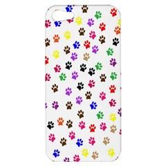 Paw Prints Background Apple Iphone 5 Hardshell Case