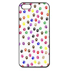 Paw Prints Background Apple Iphone 5 Seamless Case (black)
