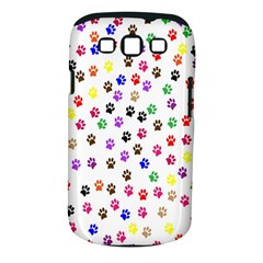 Paw Prints Background Samsung Galaxy S III Classic Hardshell Case (PC+Silicone)