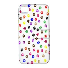 Paw Prints Background Apple Iphone 4/4s Hardshell Case With Stand