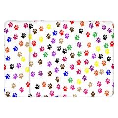 Paw Prints Background Samsung Galaxy Tab 8 9  P7300 Flip Case