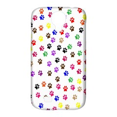 Paw Prints Background Samsung Galaxy S4 Classic Hardshell Case (pc+silicone)