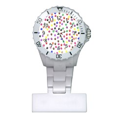 Paw Prints Background Plastic Nurses Watch