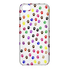 Paw Prints Background Apple Iphone 5c Hardshell Case