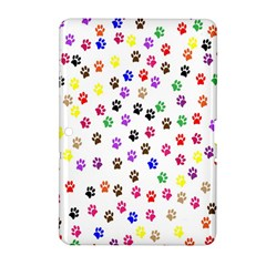 Paw Prints Background Samsung Galaxy Tab 2 (10 1 ) P5100 Hardshell Case