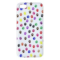 Paw Prints Background Iphone 5s/ Se Premium Hardshell Case