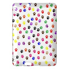Paw Prints Background Kindle Fire Hdx Hardshell Case