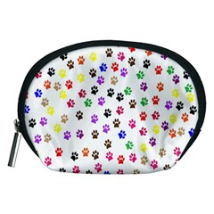 Paw Prints Background Accessory Pouches (medium)