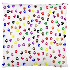 Paw Prints Background Standard Flano Cushion Case (two Sides)