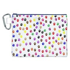 Paw Prints Background Canvas Cosmetic Bag (xxl)