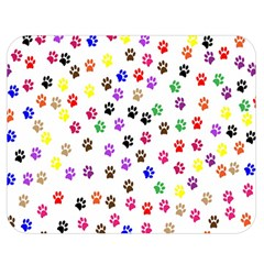 Paw Prints Background Double Sided Flano Blanket (medium)