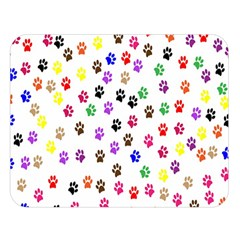 Paw Prints Background Double Sided Flano Blanket (large)