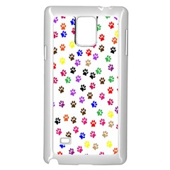 Paw Prints Background Samsung Galaxy Note 4 Case (white)