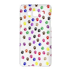 Paw Prints Background Samsung Galaxy A5 Hardshell Case