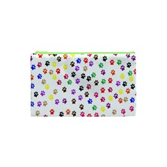 Paw Prints Background Cosmetic Bag (xs)