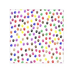 Paw Prints Background Small Satin Scarf (square)