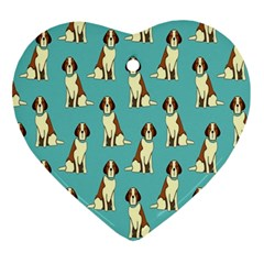 Dog Animal Pattern Ornament (heart)