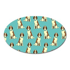 Dog Animal Pattern Oval Magnet